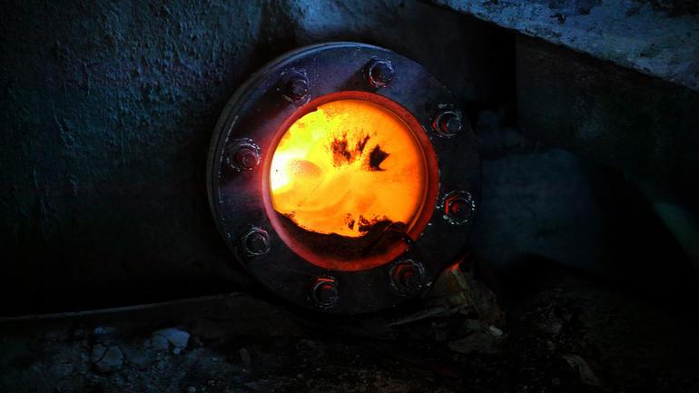 Ovn med flamme. Foto: Norcem