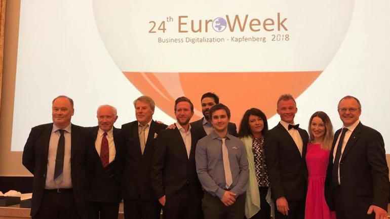 Dette er USN-teamet som deltok på Euroweek 2018.