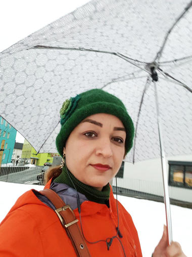 PhD student Elaheh Tavakoli enjoyed being outdoors in Norway. Photo