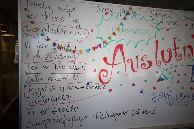 Academic Language Cafe at USN campus Drammen. photo