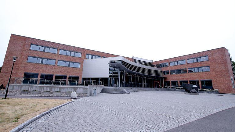 Utsiden av Forskningsparken på Bakkenteigen i Vestfold, hvor studentinkubatoren er etablert i øverste etasje.