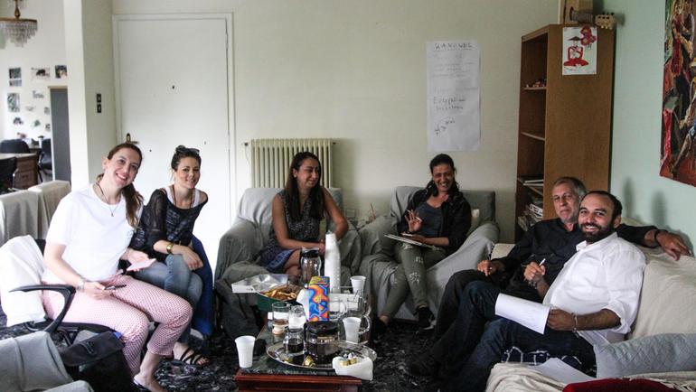 Det ambulante teamet som USN-forskerne fulgte.  Foto