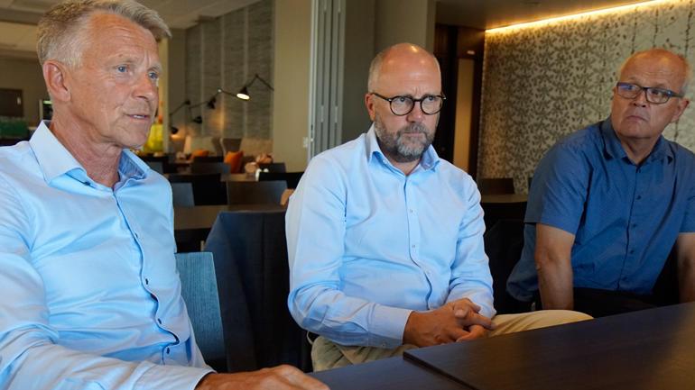 Torsdag slapp Kristian Bogen, Per Halvorsen og Erik Aarnes den gode nyheiten om gåva frå sparebankstiftingane.