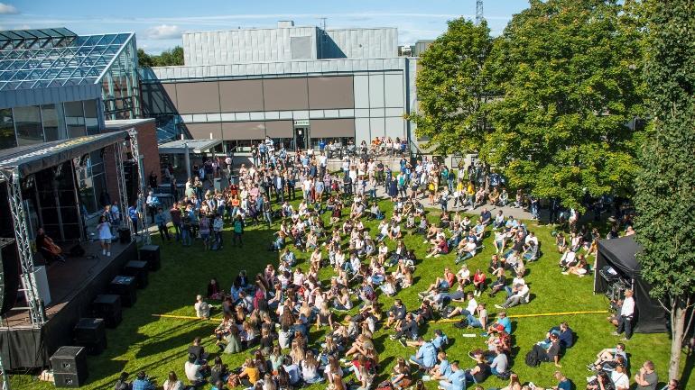 Studiestart ved USNs campus Porsgrunn i 2017. foto.