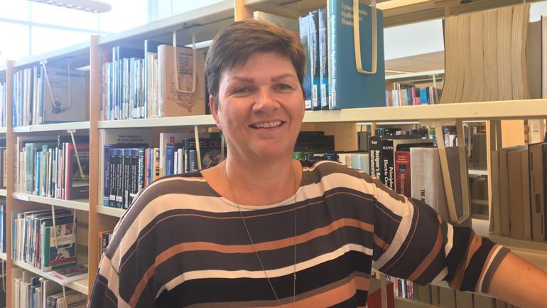 Ellen Hermanrud, Library Director at USN. photp