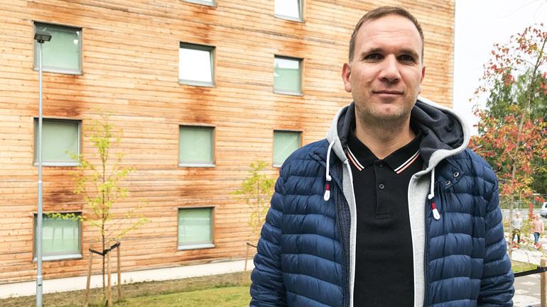 Dag Øyvind Lauvnes fra Kristiansand tar PPU for å omskolere seg fra en fysisk krevende jobb. Foto: Jan-Henrik Kulberg