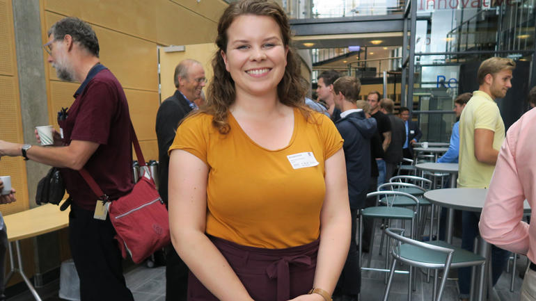 Martine Alvestad ved studiestad Kongsberg meiner masterprogrammet er ein spanande måte for ho som student å få praktisk erfaring på.