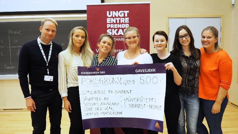 innovasjonscamp usn campus Porsgrunn. foto.