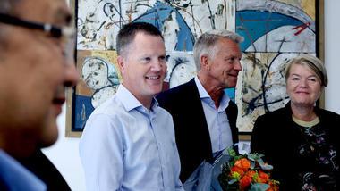 Preben Hjallum med Nils Kristian Bogen og Heidi Kapstad