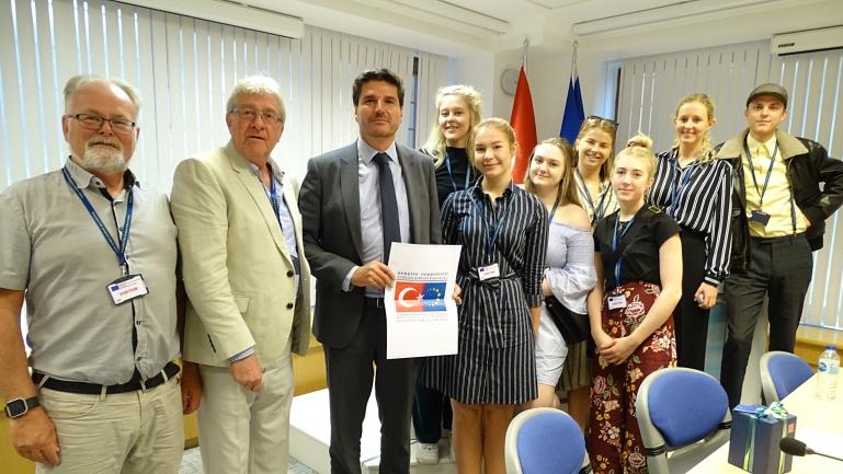 IFOS-studenter på studietur i Tyrkia. foto.