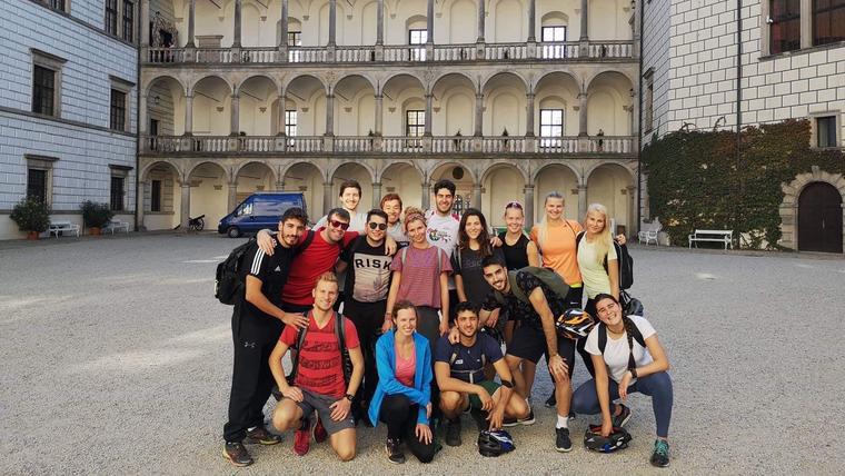 Idrettsstudenter på utveksling til Charles University i Tsjekkia