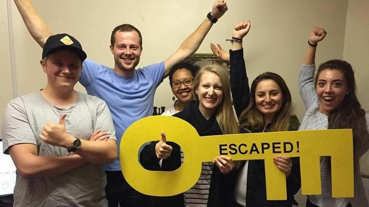 Emine på utveksling til NC Durham i Storbritannia