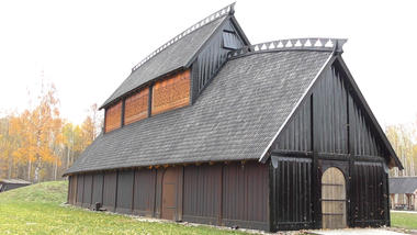 Copy of Viking Hall in Borre, where you can study Viking History and Old Norse Literature.