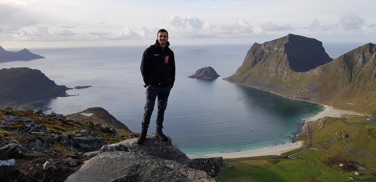 Quentil Morel, exchange student in Norway