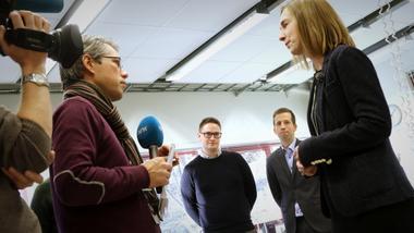 Geir Osmund Aamlid og Iselin Nybø om USN Industrimaster. Bli ingeniør på USN. foto.