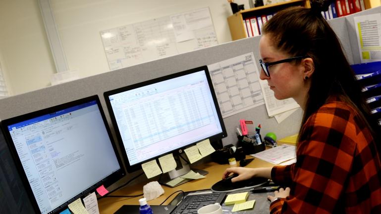 Sunniva Veie har master ved USN. Studer Maritim ledelse ved usn. foto.