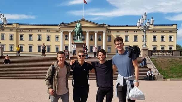 Bart and friends in Oslo