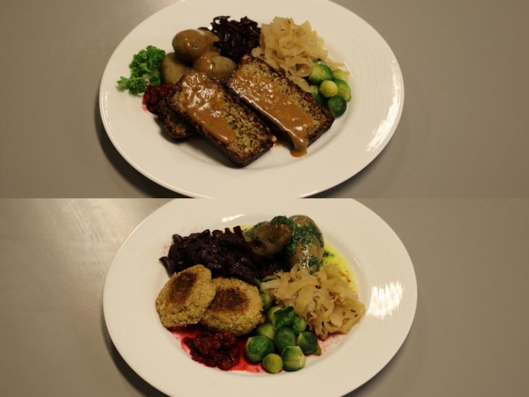 Nøttestek og vegisterkaker mat og helse usn. foto.