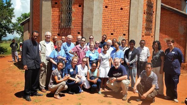 Studenter på utveklsing til Madagaskar