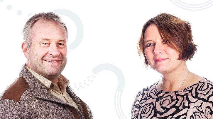Professor Thomas Moser og førsteamanuensis Marit Bøe. Foto