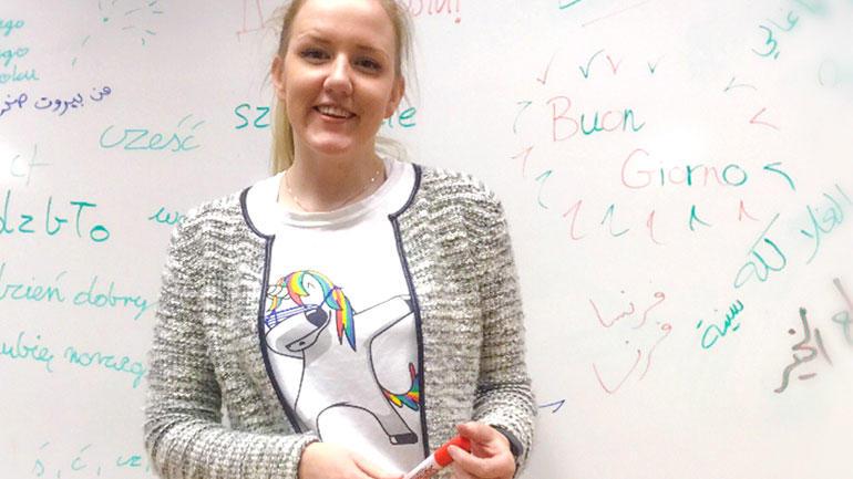 Synne Heibø Edvardsen har tatt lektorutdanning i historie på USN. Foto