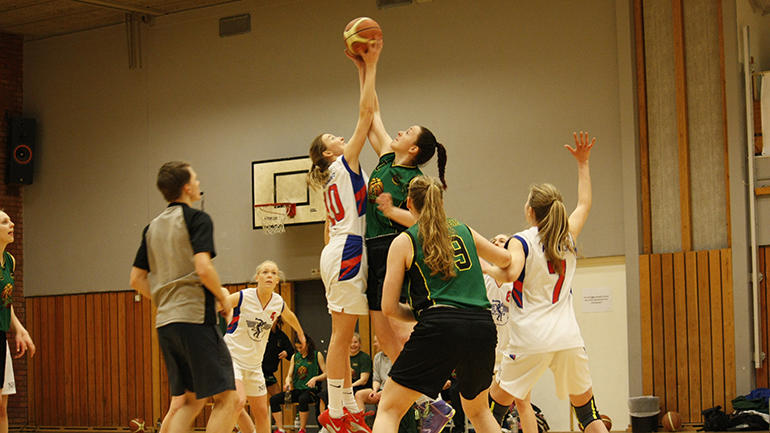 Basketkamp under studentlekene Trondheim 2017. foto.