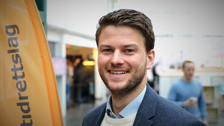 Leder for Vestfoldstudentenes Idrettslag, Joachim Sedivy. foto.