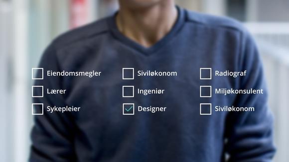 bilde av genser med studievalg