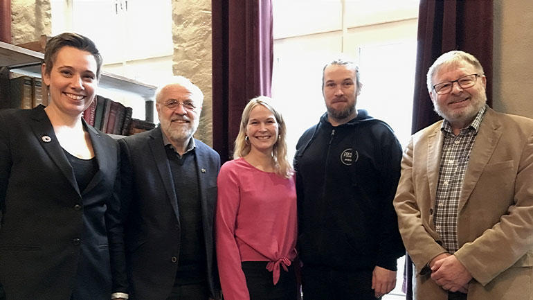 Henriette Stoltz, Petter Aasen, Hedda Foss Five, Aleksander S. Andersen og Frode Bakken. Foto