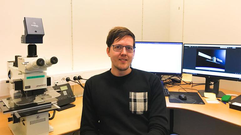 Alexander Nordskov på kontoret. Foto