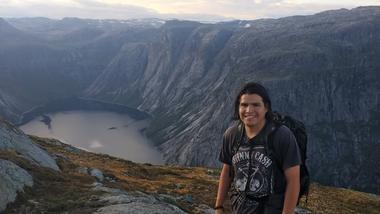 Utvekslingsstudent Gustavo på topptur i Norge