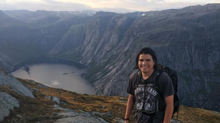 Gustavo på topptur