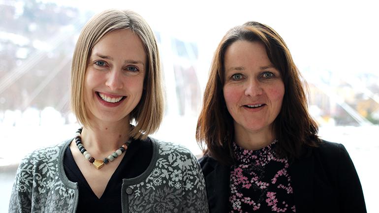 Iselin Nybø og Heidi Tovsrod Knutsen. foto.
