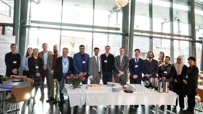 The partners in the project celebrated ENHANCE-kickoff with cake. Photo