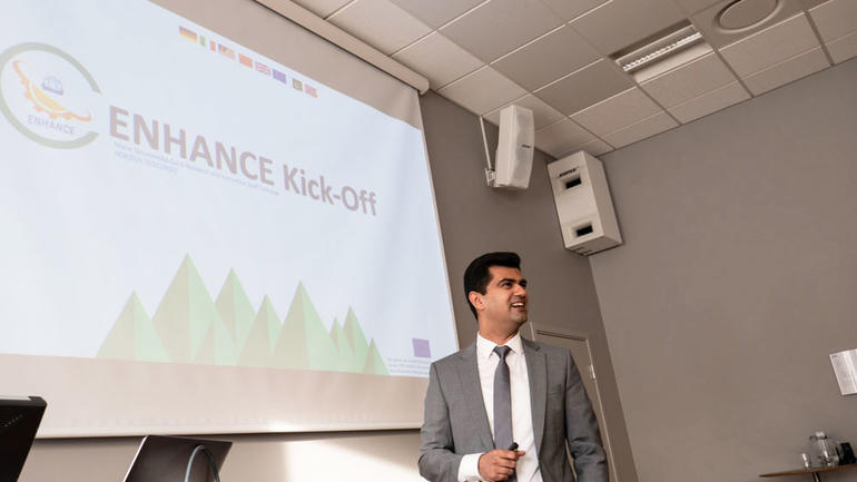 Project-coordinator for ENHANCE Salman Nazir at the kickoff. Photo