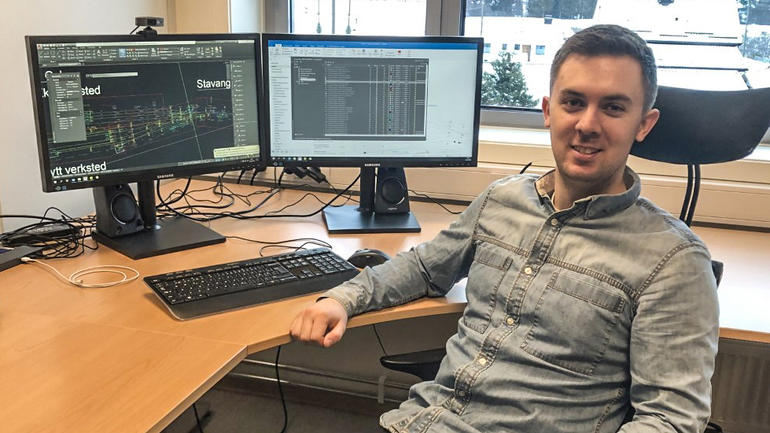 Henrik Almquist er prosjektingeniør hos Norsk Jernbanedrift etter Y-veien Elkraftteknikk på USN. Foto