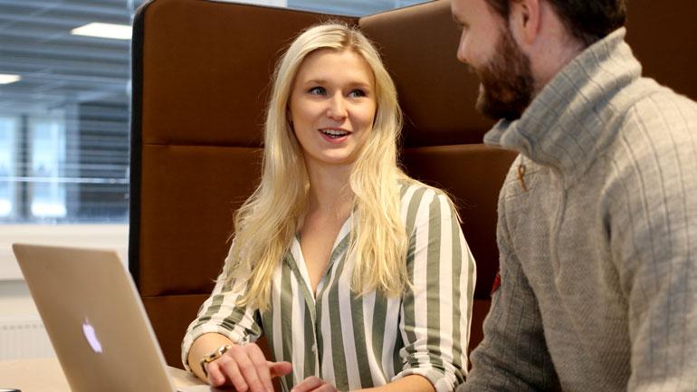 Marie Fjeld Lycke og Michael Tangløkken skriver masteroppgave sammen
