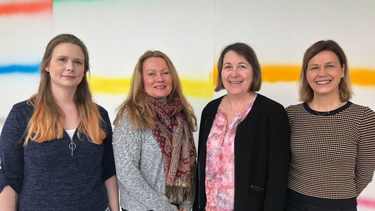 Tonje Malene Thomassen, Lisbeth Bakken, Lise Gladhus og Katrine Hordvik Wilhelmsen. Foto