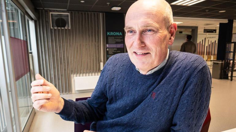 Geir Øystein Andersen sier hele poenget er å kunne ta Executive Master of mMnagement mens han er i jobb.  Foto av ham.
