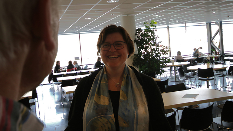 Anna Rigmor Moxnes på campus Drammen. foto.