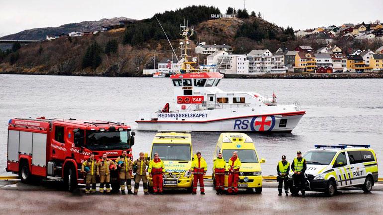 Poiti, ambulanse og brannvesen sammen på øvelse