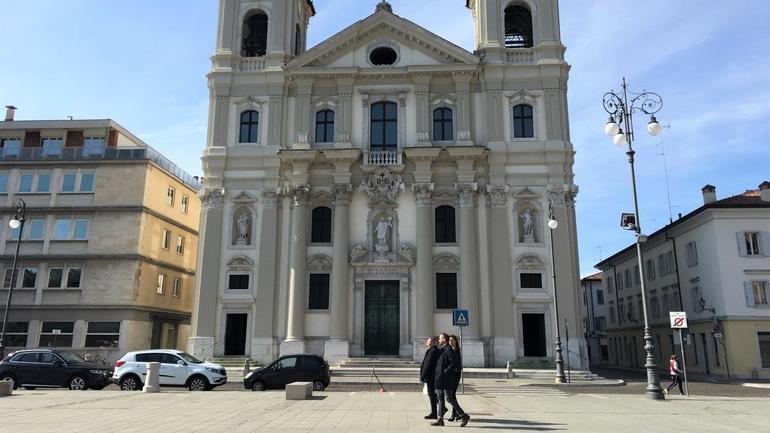 Torget i Udine, Italia
