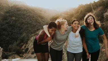 Fire jenter på utveksling