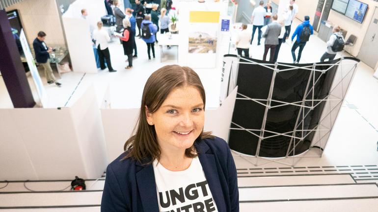 I 2018 konkurrerte Linda Skjelbred med studentbedrift.Foto
