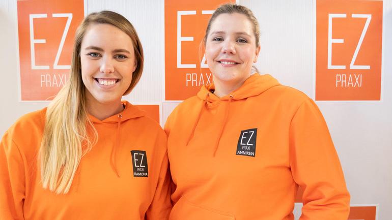 Studentbedriften EX praxi fra campus Vestfold.  Foto av jentene i studentbedriften.