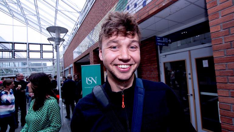 Portrett av byggingeniørstudent Chris