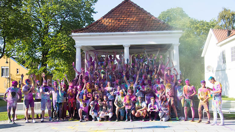 Color run Kongsberg. Photo.