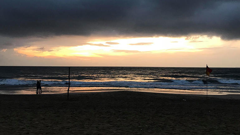 Beach in Sri Lanka. photo