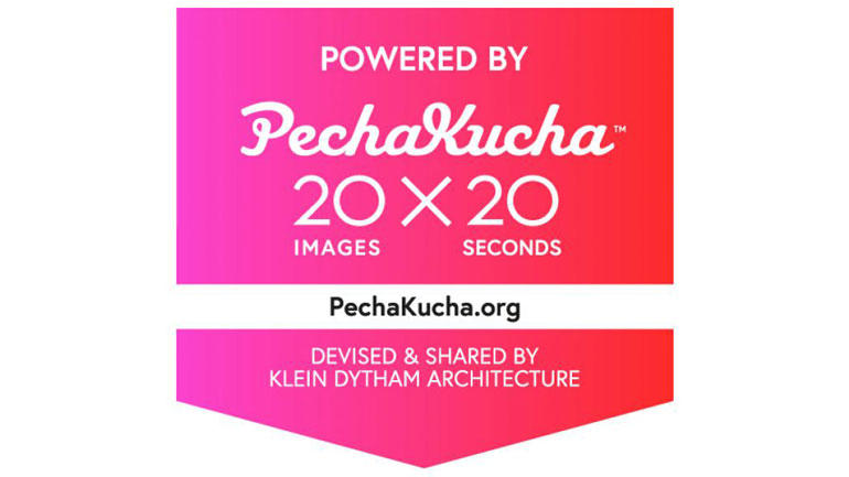 Powered by PechaKucha. Logo