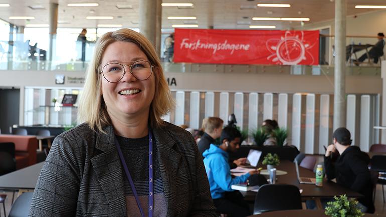 Frøydis Maurtvedt på campus Ringerike. foto.